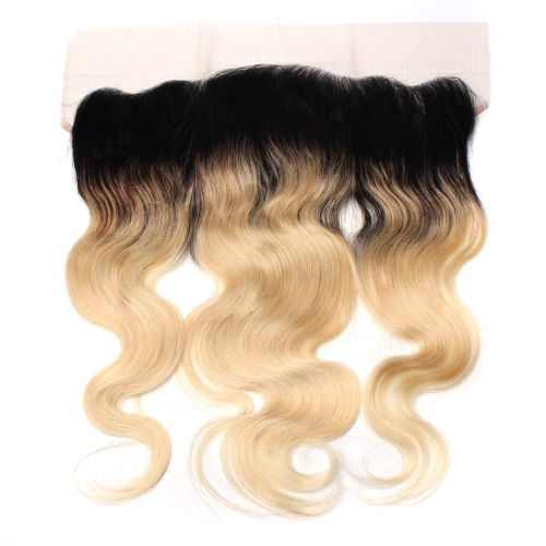 Cheveux épicés 100% sans enchevêtrement 1b / 613 Blonde Body Wave Front