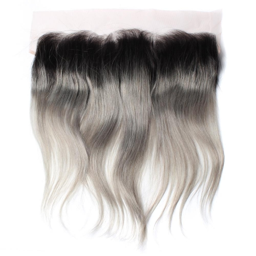 Spicyhair 100% DHL Livraison gratuite No Tangle 1b / gris Straight Frontal