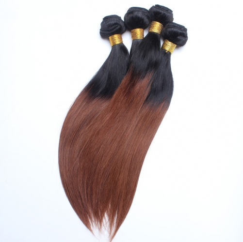 Spicyhair 100% Shipping Free by DHL brown ombre Straight human hair One Bundle